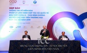 Họp báo thông tin về Diễn đàn Pháp lý và Hội chợ xúc tiến thương mại HTX năm 2019 do Liên minh HTX Việt Nam tổ chức