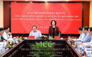 Đoàn kiểm tra Ban Chỉ đạo sơ kết Kết luận 102 làm việc với Đảng đoàn Liên minh HTX Việt Nam