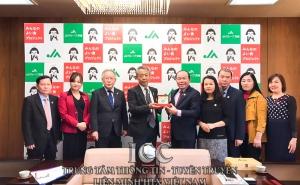 Đoàn công tác VCA làm việc với Liên đoàn HTX nông nghiệp tỉnh Ibaraki