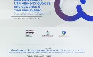 Giấy mời Diễn đàn Pháp lý Liên minh HTX Quốc tế khu vực châu Á - Thái Bình Dương