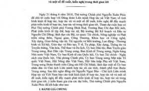 Thông báo số 276/TB-VPCP: Kết luận của Thủ tướng Chính phủ Nguyễn Xuân Phúc tại cuộc họp với VCA