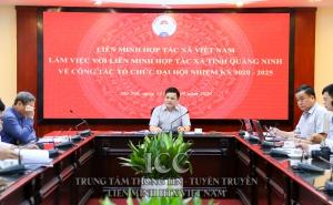 Phó Chủ tịch Nguyễn Văn Thịnh làm việc với Liên minh HTX tỉnh Quảng Ninh về công tác tổ chức Đại hội