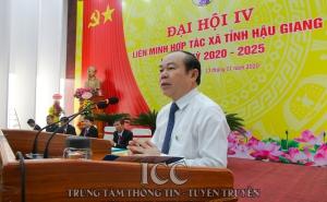 Đồng chí Ngô Minh Long tái đắc cử Chủ tịch Liên minh HTX tỉnh Hậu Giang
