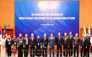 """Hội nghị cấp Bộ trưởng ASEAN về """"Phát triển Nguồn nhân lực cho thế giới công việc đang đổi thay"""" diễn ra tại Hà Nội."""