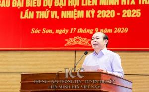 Chủ tịch Nguyễn Ngọc Bảo tham dự Hội nghị thành viên Liên minh Hợp tác xã Hà Nội tại huyện Sóc Sơn