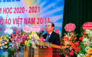 Chủ tịch Nguyễn Ngọc Bảo dự lễ khai giảng và chúc mừng Trường Cao đẳng Kỹ thuật - Mỹ nghệ Việt Nam nhân dịp 20-11