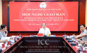Chủ tịch Nguyễn Ngọc Bảo chủ trì hội nghị giao ban đánh giá công tác tháng 8 và triển khai nhiệm vụ công tác tháng 9 năm 2020