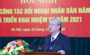 Chủ tịch Nguyễn Ngọc Bảo dự Hội nghị Tổng kết công tác đối ngoại nhân dân năm 2020 và triển khai nhiệm vụ năm 2021