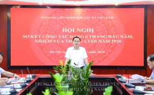 Hội nghị Sơ kết công tác Đảng 6 tháng đầu năm, nhiệm vụ 6 tháng cuối năm 2020 Đảng bộ Liên minh HTX Việt Nam