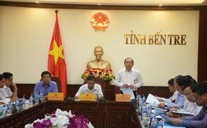 Chủ tịch Nguyễn Ngọc Bảo làm việc với UBND tỉnh Bến Tre