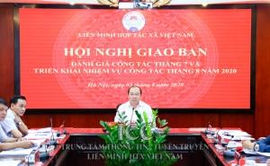 Chủ tịch Nguyễn Ngọc Bảo chủ trì hội nghị đánh giá công tác tháng 7 và triển khai nhiệm vụ tháng 8 năm 2020