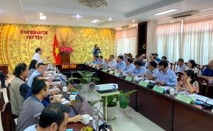 Chủ tịch Nguyễn Ngọc Bảo cùng đoàn công tác làm việc với UBND tỉnh Phú Yên