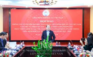 Thông cáo báo chí về Đại hội Đại biểu toàn quốc Liên minh HTX Việt Nam lần thứ VI, nhiệm kỳ 2020 - 2025 và Triển lãm thành tựu phát triển kinh tế tập thể, HTX và hoạt động của hệ thống Liên minh HTX Việt Nam giai đoạn 2016 - 2020