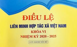 Liên minh Hợp tác xã Việt Nam phát hành sách Điều lệ Liên minh Hợp tác xã Việt Nam khóa VI nhiệm kỳ 2020 – 2025