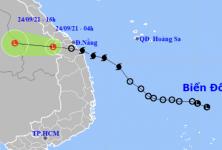 Bão Dianmu suy yếu thành vùng áp thấp