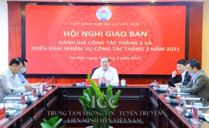 Cơ quan Liên minh HTX Việt Nam tổ chức hội nghị giao ban đánh giá công tác tháng 01 và triển khai nhiệm vụ công tác tháng 02/2021