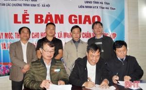 Liên minh HTX Việt Nam hỗ trợ HTX Hà Tĩnh thiết bị sản xuất, kinh doanh