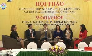 Vai trò của hệ thống HTX tại Việt Nam trong chính thức hóa nền kinh tế phi chính thức