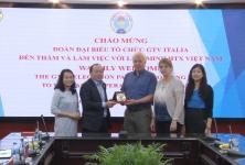 Chủ tịch Nguyễn Ngọc Bảo tiếp và làm việc với tổ chức GTV Italia