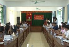 Chủ tịch Nguyễn Ngọc Bảo và đoàn công tác làm việc tại huyện Cao Phong- Hòa Bình
