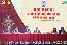 Liên minh HTX tỉnh Hòa Bình - Đại hội VI nhiệm kỳ 2020 - 2025