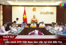 Liên minh HTX Việt Nam làm việc tại tỉnh Bến Tre