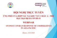 """VCA tham dự Hội nghị trực tuyến về """"Ứng phó của HTX khu vực Châu Á – Thái Bình Dương hậu đại dịch Covid-19"""""""