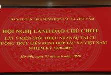hội nghị bỏ phiếu giới thiệu nhân sự tái cử Thường trực Liên minh HTX Việt Nam