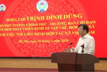 Phó Thủ tướng Trịnh Đình Dũng làm việc với Liên minh HTX Việt Nam về tình hình phát triển KTTT, HTX