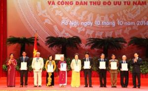 Hà Nội vinh danh 10 Công dân Thủ đô ưu tú 2014