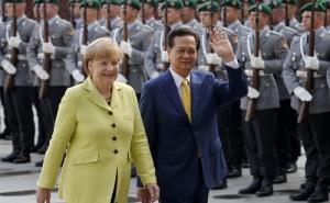 Thủ tướng Đức mong các nước duy trì hòa bình ở Biển Đông